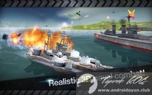 Savaş gemisi savaş Dünya Savaşı 3d 2-v1-2-3-mod-apk-altın 3 dolandırıcı