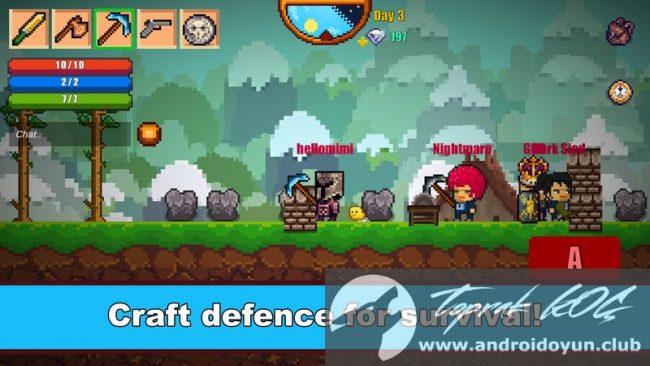 Piksel Survival Oyun 2 v1-08 modlu apk baklava hileli