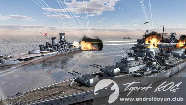 Dünya Savaş Gemileri v1-0-7-mode-apk-money-fixed ile mücadele